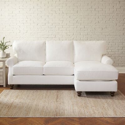 Huxley Sofa with Chaise Upholstery: Bayou Flame