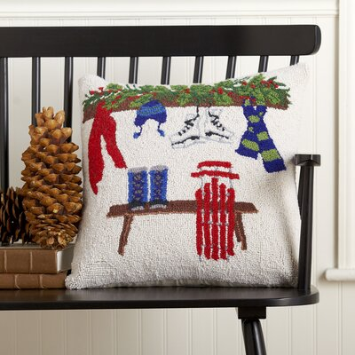 Winter Fun Hooked Pillow