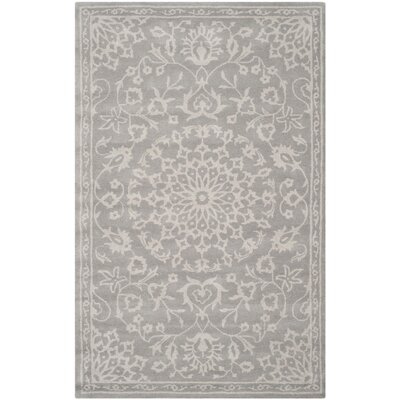 Wool Gray/Silver Area Rug Rug Size: Rectangle 5 x 8