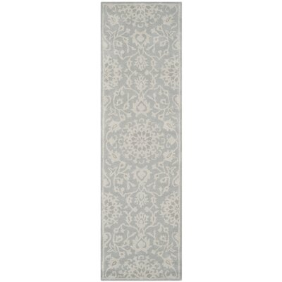 Wool Gray/Silver Area Rug Rug Size: Runner 23 x 8