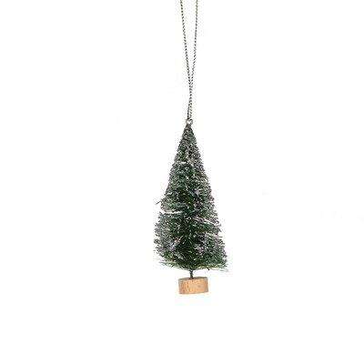 Mini Bottlebrush Trees 4-Piece Ornament Set