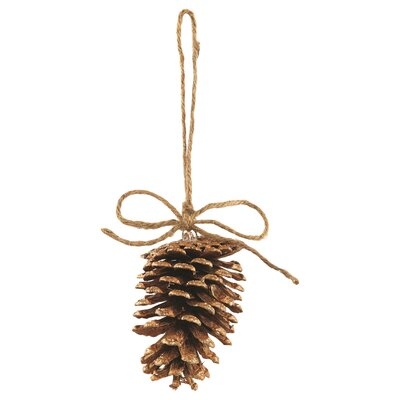 Gilted Pinecone Ornament (Set of 12)