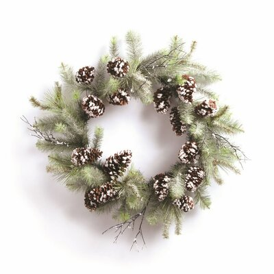 Winter Wonder Faux Pinecone Wreath