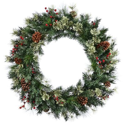 Birch Lane Conifer and Berry Faux Wreath
