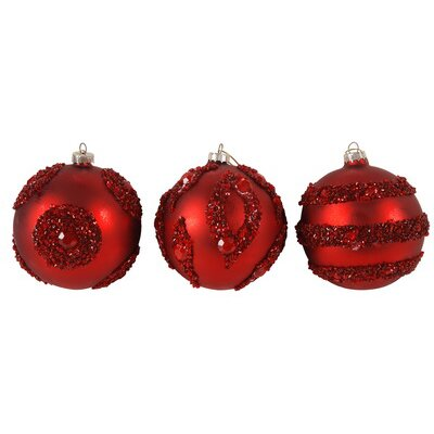 Embellished Glitter Ball Ornaments