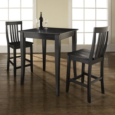 Olsen 3-Piece Pub Dining Set Finish: Black