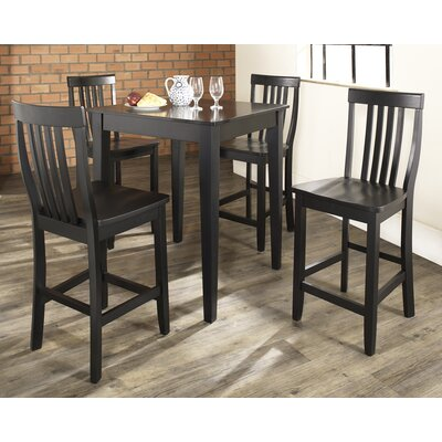 Olsen 5-Piece Pub Dining Set Finish: Black