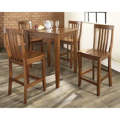 Olsen 5-Piece Pub Dining Set Color: Classic Cherry