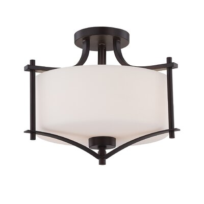 Foxall Semi Flush Mount Finish: English Bronze