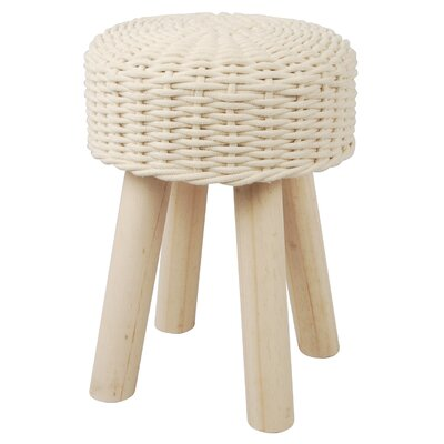 Waugh Cotton Stool Color: Cream