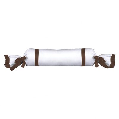 Celina Bedding Cotton Bolster Pillow Color: White / Brown