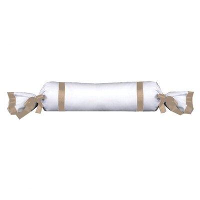 Celina Bedding Cotton Bolster Pillow Color: Natural / White