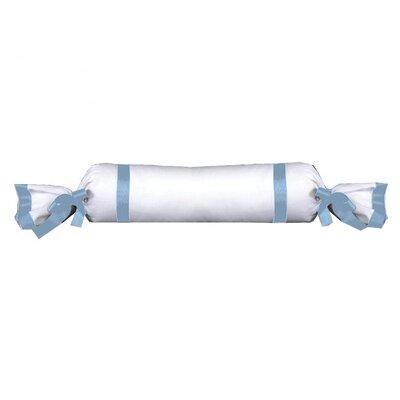Celina Bedding Cotton Bolster Pillow Color: Sky / White