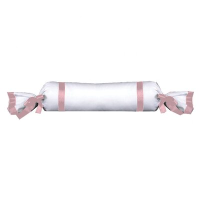 Celina Bedding Cotton Bolster Pillow Color: White / Pink