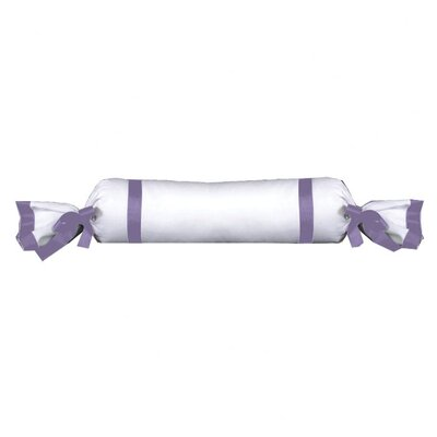 Celina Bedding Cotton Bolster Pillow Color: White / Lilac