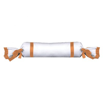 Celina Bedding Cotton Bolster Pillow Color: White / Orange