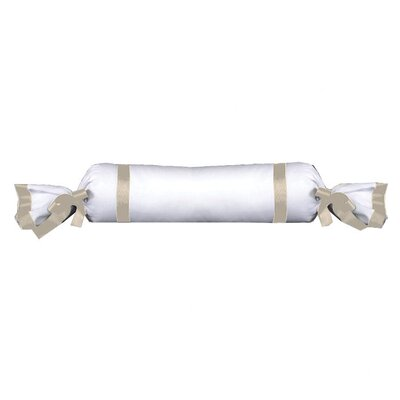 Celina Bedding Cotton Bolster Pillow Color: White / Ivory
