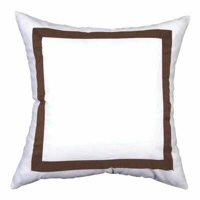 Sophia Sham Color: White / Brown, Size: Euro