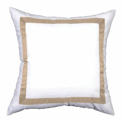 Sophia Sham Color: White / Natural, Size: Standard