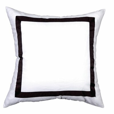 Sophia Sham Color: White / Black, Size: King