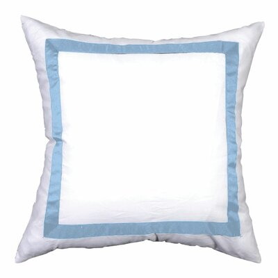 Sophia Sham Color: White / Soft Blue, Size: King