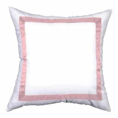 Sophia Sham Color: White / Pink, Size: King