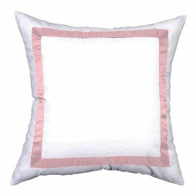 Sophia Sham Color: White / Pink, Size: Euro