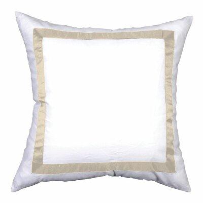 Sophia Sham Color: White / Ivory, Size: Euro