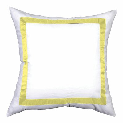 Sophia Sham Color: White / Lemon, Size: Euro