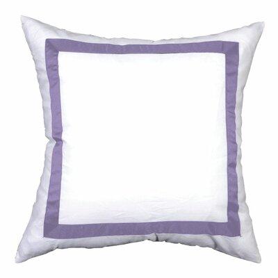Sophia Sham Color: White / Lilac, Size: King