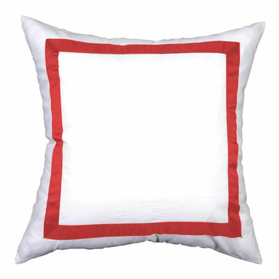 Sophia Sham Color: White / Red, Size: King