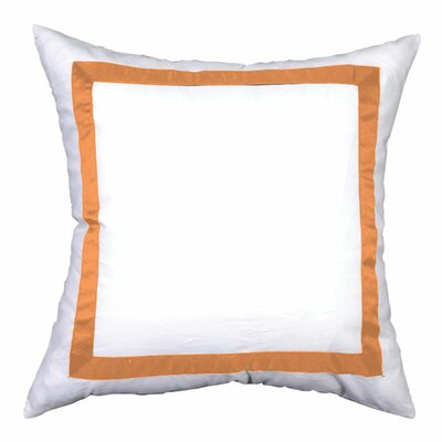 Sophia Sham Color: White / Orange, Size: Euro