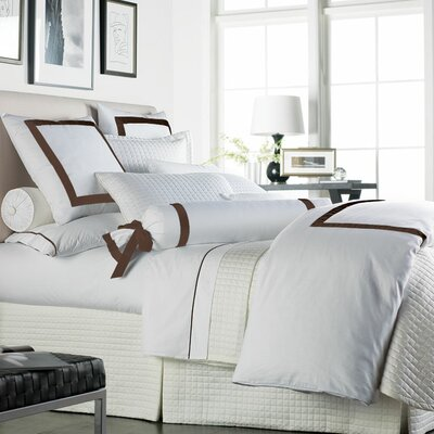 Celina Bedding 2 Piece 300 Thread Count Egyptian Quality Cotton Sheet Set Size: Queen, Color: White / Brown