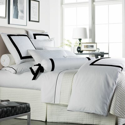 Celina Bedding 2 Piece 300 Thread Count Egyptian Quality Cotton Sheet Set Size: Queen, Color: White / Black