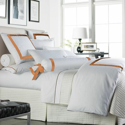 Celina Bedding 2 Piece 300 Thread Count Egyptian Quality Cotton Sheet Set Size: Queen, Color: White / Orange