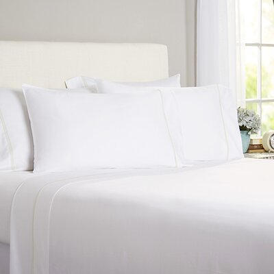 Celina Bedding 2 Piece 300 Thread Count Egyptian Quality Cotton Sheet Set Size: King, Color: White / Ivory