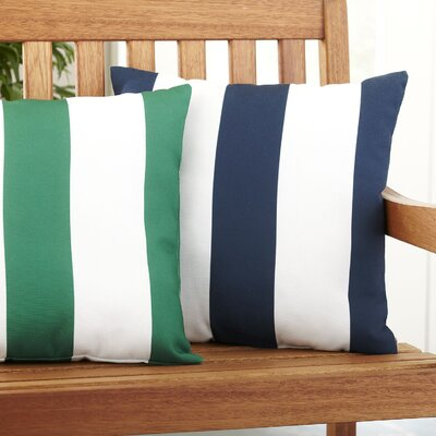 Moira Polyester Throw Pillow Color: Navy