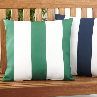 Moira Polyester Throw Pillow Color: Green