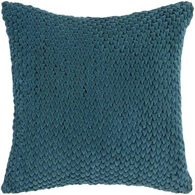 Mandrell Velvet Pillow Color: Emerald, Size: 22