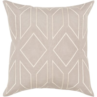 Tierney Linen Pillow Cover Size: 18 H x 18 W x 0.25 D, Color: GrayNeutral