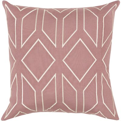 Tierney Linen Pillow Cover Size: 22 H x 22 W x 1 D, Color: PinkNeutral