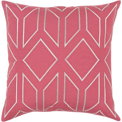Tierney Linen Pillow Cover Size: 20 H x 20 W x 1 D, Color: PinkGray