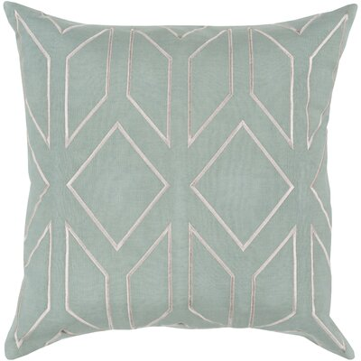 Tierney Linen Pillow Cover Size: 18 H x 18 W x 0.25 D, Color: GreenNeutral