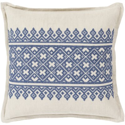 Killigrew Pillow Cover Size: 18 H x 18 W x 1 D, Color: Blue