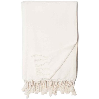 Edina Herringbone Throw Color: White