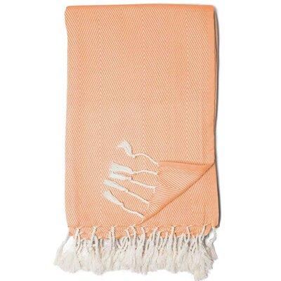 Edina Herringbone Throw Color: Tangerine