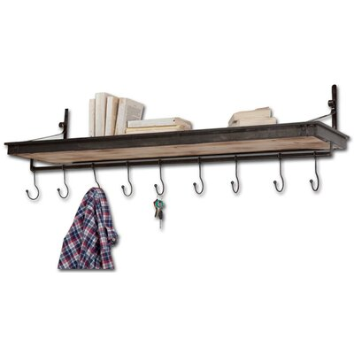 Birch Lane Codsall Shelf with Adjustable Hooks