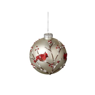 Woodland Cardinal Ball Ornament