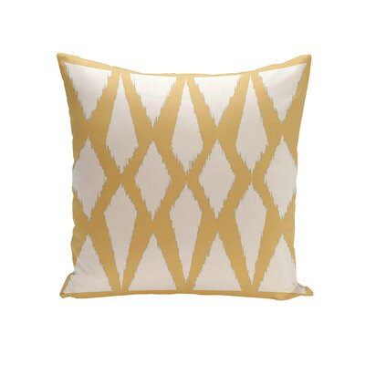 Geometric Decorative Outdoor Pillow Color: Yellow, Size: 16