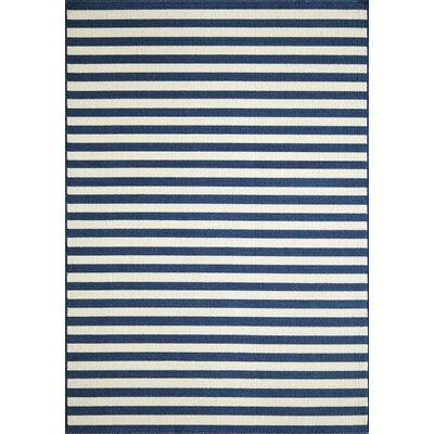 Adrian Navy Indoor/Outdoor Area Rug Rug Size: 311 x 57